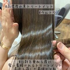 髪質改善トリートメント トリートメント エレガント ショコラブラウン ヘアスタイルや髪型の写真・画像