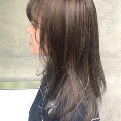 フェミニン ハイトーンカラー ハイトーン ミディアム ヘアスタイルや髪型の写真・画像