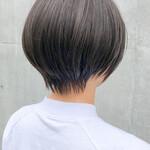 ナチュラル ショートボブ ショートヘア ひし形シルエット