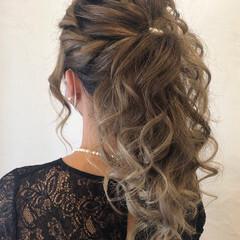 編み込みヘア 成人式ヘア コンサバ ヘアアレンジ ヘアスタイルや髪型の写真・画像