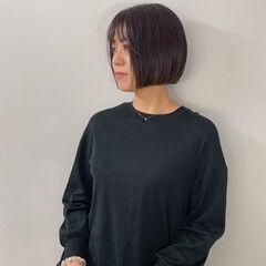 カジュアル ボブアレンジ ストレート ミニボブ ヘアスタイルや髪型の写真・画像