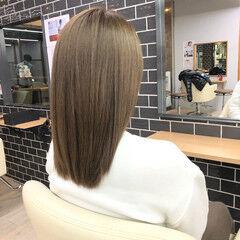 セミロング 髪質改善 サイエンスアクア 髪質改善トリートメント ヘアスタイルや髪型の写真・画像