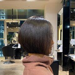 エレガント ボブ 絶壁カバー お手入れ簡単!! ヘアスタイルや髪型の写真・画像
