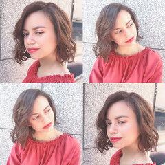 ボブ くせ毛風 AVEDA ナチュラル ヘアスタイルや髪型の写真・画像