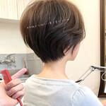 ナチュラル ベリーショート ショートヘア インナーカラー