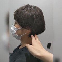 ショートヘア マッシュヘア ナチュラル 小顔ショート ヘアスタイルや髪型の写真・画像