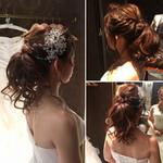 結婚式 アップスタイル 花嫁 ブライダル