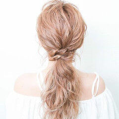 ロング ヘアアレンジ ショート 爽やか ヘアスタイルや髪型の写真・画像