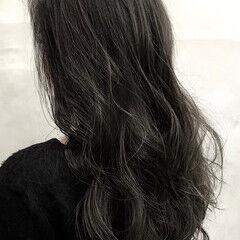 セミロング エレガント ダークカラー 大人ハイライト ヘアスタイルや髪型の写真・画像