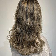 ロング コントラストハイライト ハイライト 大人ハイライト ヘアスタイルや髪型の写真・画像