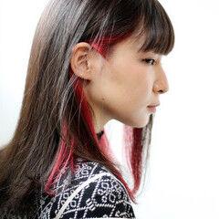 レッドカラー チェリーレッド オレンジカラー オレンジブラウン ヘアスタイルや髪型の写真・画像