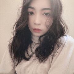 暗髪 ナチュラル 暗髪バイオレット 暗髪女子 ヘアスタイルや髪型の写真・画像