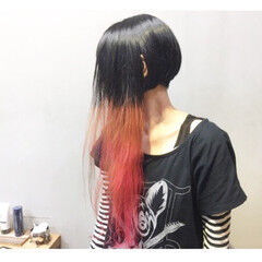 ショート パープル ボブ ピンク ヘアスタイルや髪型の写真・画像