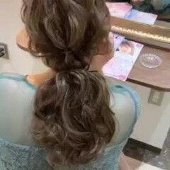 お呼ばれヘア ナチュラル ローポニー ロング ヘアスタイルや髪型の写真・画像