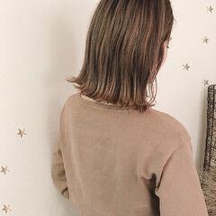 ハイトーンボブ ストリート ローライト ハイライト ヘアスタイルや髪型の写真・画像