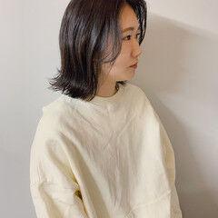 ヘアスタイル ナチュラル ボブアレンジ カジュアル ヘアスタイルや髪型の写真・画像