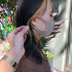 ブリーチカラー モード ネオウルフ デザインカラー ヘアスタイルや髪型の写真・画像