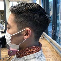 メンズヘア ベリーショート ショート フェードカット ヘアスタイルや髪型の写真・画像