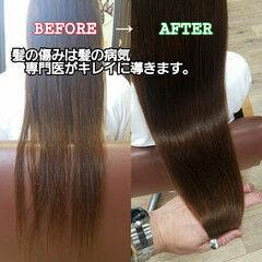 トリートメント 名古屋市 エレガント ロング ヘアスタイルや髪型の写真・画像
