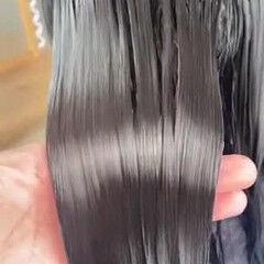 ナチュラルベージュ 超音波 セミロング トリートメント ヘアスタイルや髪型の写真・画像