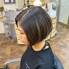 ショートボブ グレージュ ショート イメチェン ヘアスタイルや髪型の写真・画像