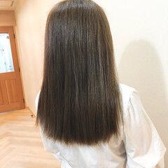 オーガニックカラー ブルーアッシュ オーガニックアッシュ ロング ヘアスタイルや髪型の写真・画像