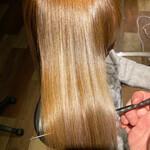 簡単ヘアアレンジ 髪質改善カラー ナチュラル 髪質改善