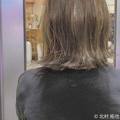 ミルクティーグレージュ ナチュラル グレージュ ボブ ヘアスタイルや髪型の写真・画像