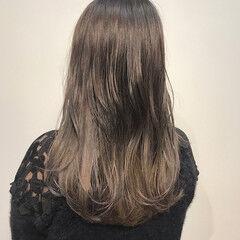 ミルクティーグレージュ ミルクグレージュ ガーリー ロング ヘアスタイルや髪型の写真・画像
