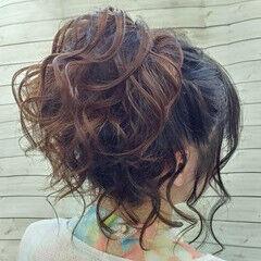 ロング 派手髪 ポニーテール エレガント ヘアスタイルや髪型の写真・画像