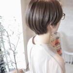 ショート ショートヘア ミニボブ グレージュ