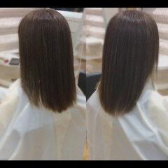 セミロング 髪質改善 ヘアケア 艶髪 ヘアスタイルや髪型の写真・画像