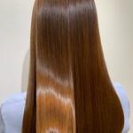 ロング ナチュラル 髪質改善 ブラウンベージュ