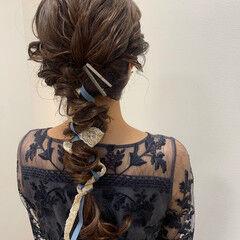 ナチュラル ロング ヘアセット 結婚式ヘアアレンジ ヘアスタイルや髪型の写真・画像