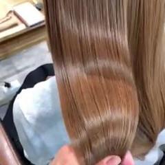 ロング ナチュラル ベージュ 最新トリートメント ヘアスタイルや髪型の写真・画像