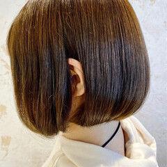 イルミナカラー ボブ ナチュラル ミニボブ ヘアスタイルや髪型の写真・画像