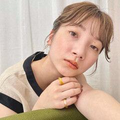 ミディアム 簡単ヘアアレンジ 大人可愛い 結婚式ヘアアレンジ ヘアスタイルや髪型の写真・画像