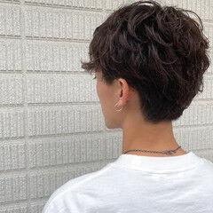 メンズカット メンズショート メンズヘア セミロング ヘアスタイルや髪型の写真・画像