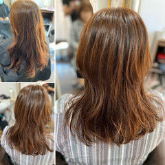 セミロング ウルフレイヤー ウルフカット ウルフパーマ ヘアスタイルや髪型の写真・画像