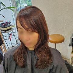 デジタルパーマ 縮毛矯正ストカール ロング 艶髪 ヘアスタイルや髪型の写真・画像