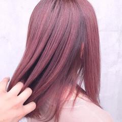 ラベンダー ラベンダーピンク ラベンダーアッシュ フェミニン ヘアスタイルや髪型の写真・画像