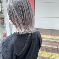 ショートヘア ショート モード ラベンダーグレージュ ヘアスタイルや髪型の写真・画像