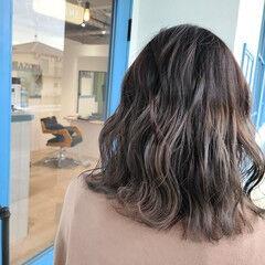 透明感 セミロング ブランジュ 抜け感 ヘアスタイルや髪型の写真・画像