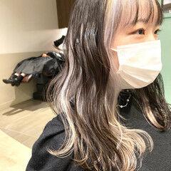 韓国風ヘアー ブリーチ 韓国 フェミニン ヘアスタイルや髪型の写真・画像