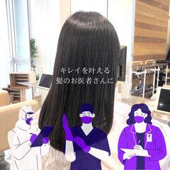 縮毛矯正 ナチュラル ストレート 髪質改善 ヘアスタイルや髪型の写真・画像
