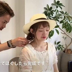 女子会 夏 ヘアアレンジ デート ヘアスタイルや髪型の写真・画像