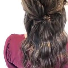簡単ヘアアレンジ ナチュラル ゆるふわセット 二次会ヘア ヘアスタイルや髪型の写真・画像