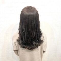 ナチュラル オフィス 地毛風カラー 暗髪 ヘアスタイルや髪型の写真・画像