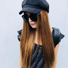 エクステ 上品 グラマラス ロング ヘアスタイルや髪型の写真・画像
