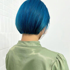 ボブ ハイトーンボブ モテボブ ブリーチ必須 ヘアスタイルや髪型の写真・画像